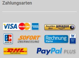 Zahlungsarten in Online-Shops